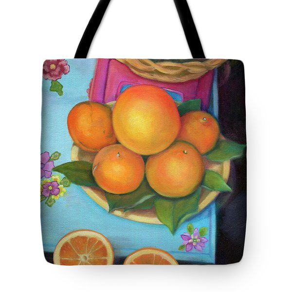 Still Life Oranges And Grapefruit Tote Bag
