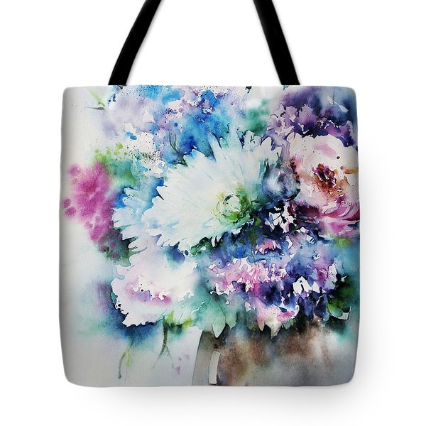 Still Life Rose Bouquet Watercolour Tote Bag