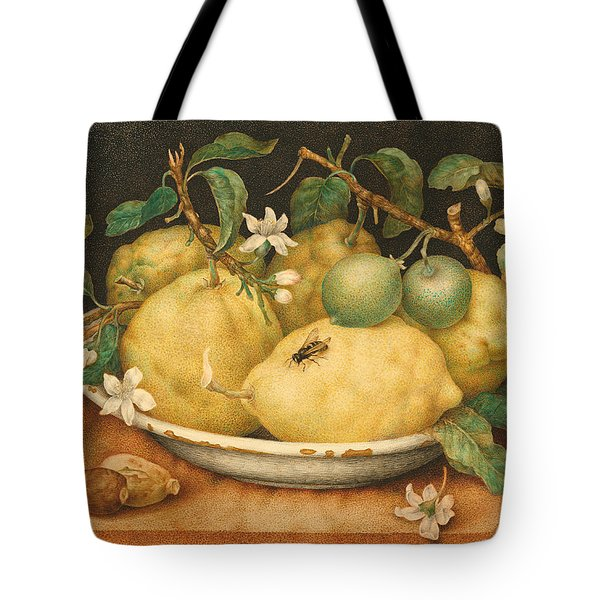 Still Life With A Bowl Of Citrons Tote Bag