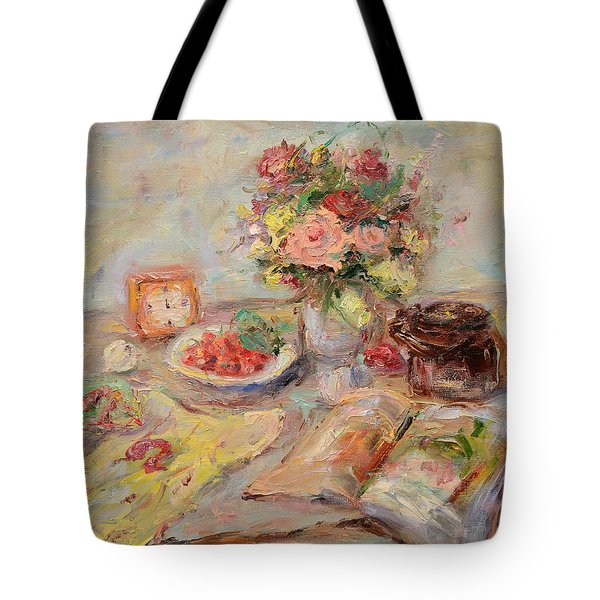 Still Life With A Clock Tote Bag