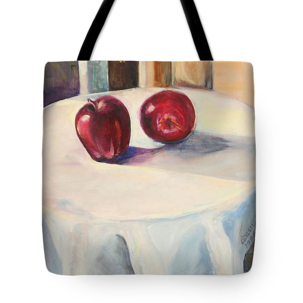 Still Life With Apples Tote Bag by Daun Soden-Greene