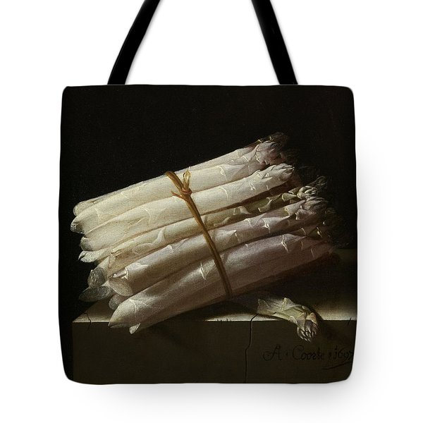 Still Life With Asparagus, 1697 Tote Bag