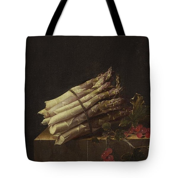 Still Life With Asparagus And Red Currants Tote Bag