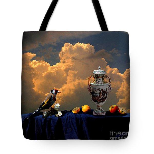 Tote Bag featuring the digital art Still Life With Bird by Alexa Szlavics