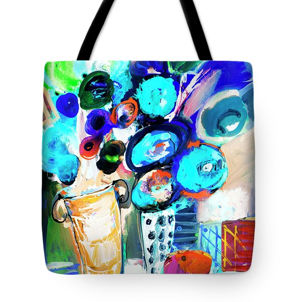 Still Life With Blue Flowers Tote Bag