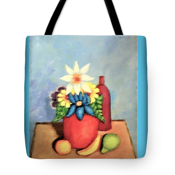 Still Life With Bottle Tote Bag