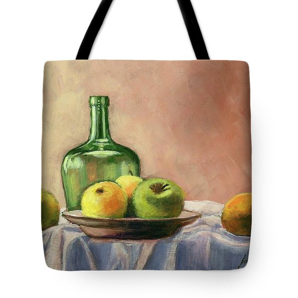 Still Life With Bottle Tote Bag by Janet King