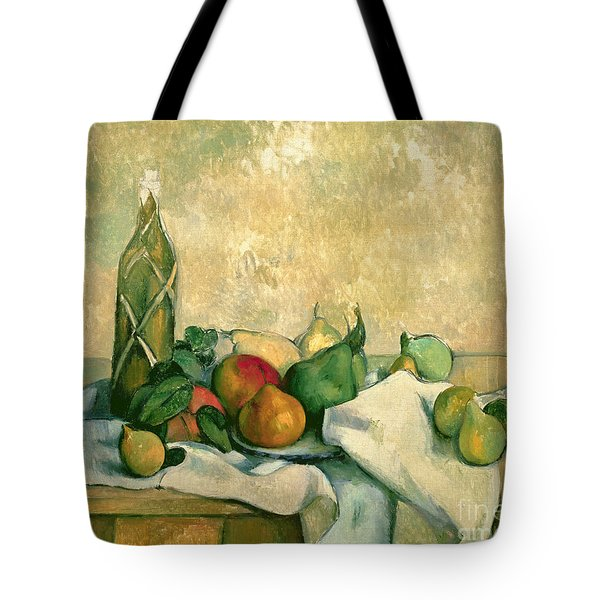 Still Life With Bottle Of Liqueur Tote Bag by Paul Cezanne