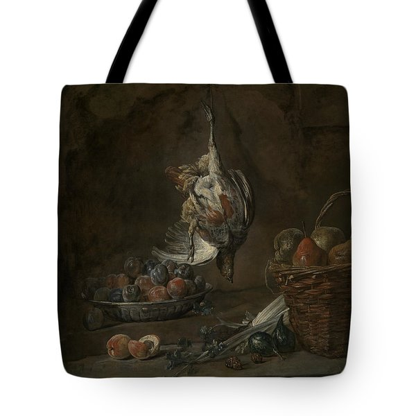 Still Life With Dead Pheasant Tote Bag by Jean-Baptiste-Simeon Chardin