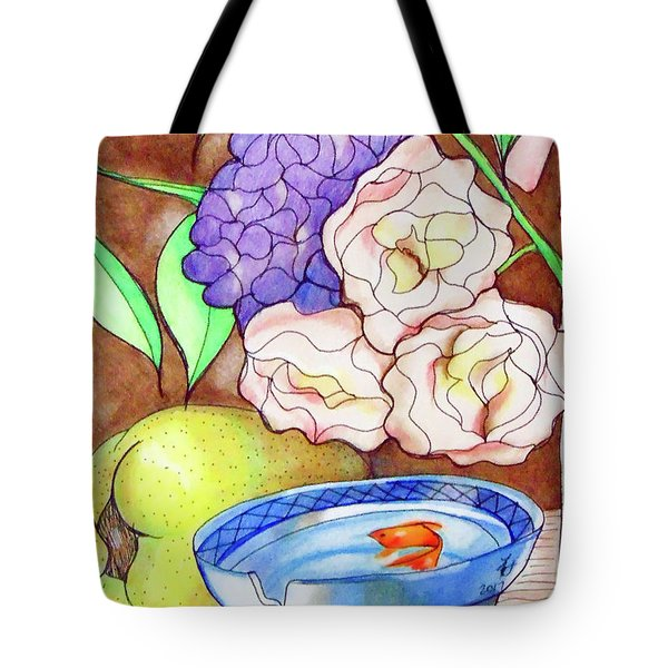 Still Life With Fish Tote Bag by Loretta Nash