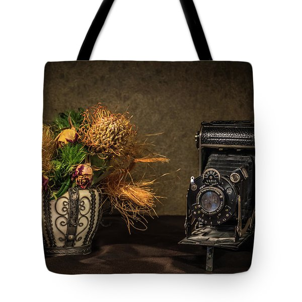 Still Life With Flowers And Camera Tote Bag