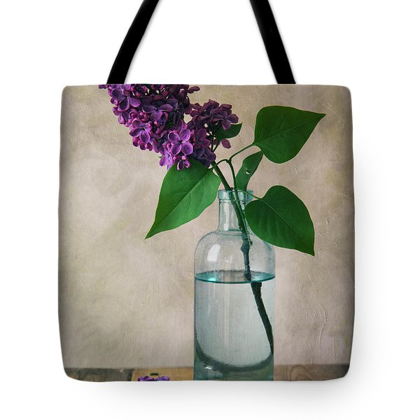 Tote Bag featuring the photograph Still Life With Fresh Lilac by Jaroslaw Blaminsky