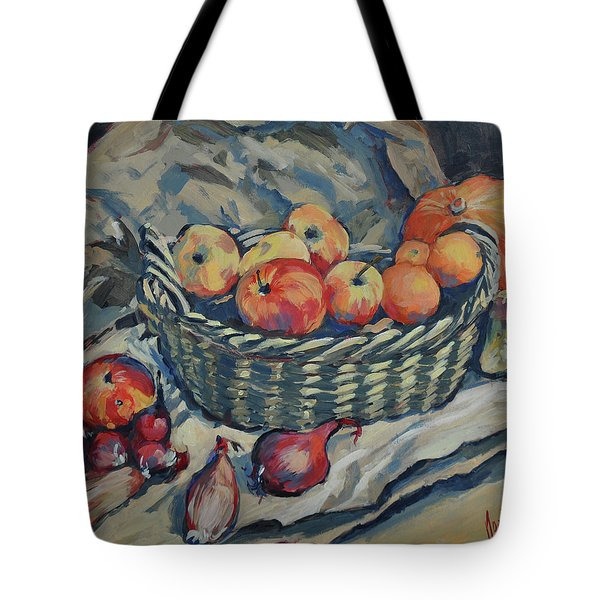 Still Life With Fruit And Vegetables Tote Bag