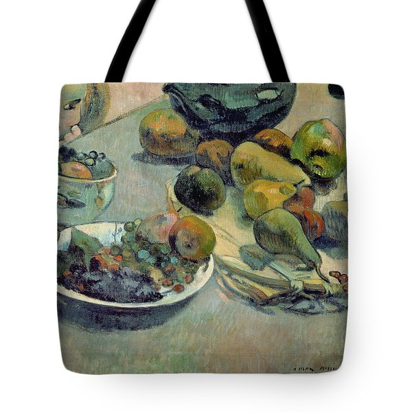 Still Life With Fruit Tote Bag by Paul Gauguin