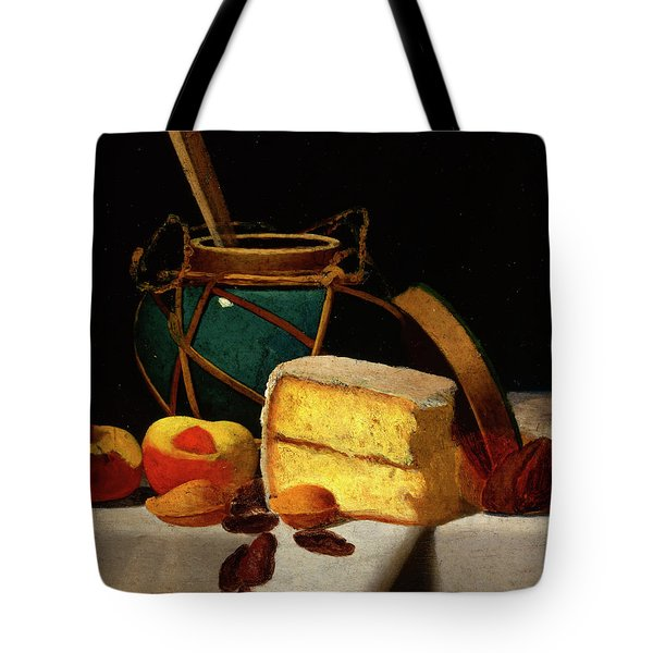 Still Life With Ginger Jar And Pound Cake Tote Bag