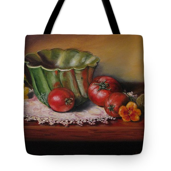 Still Life With Green Bowl Tote Bag