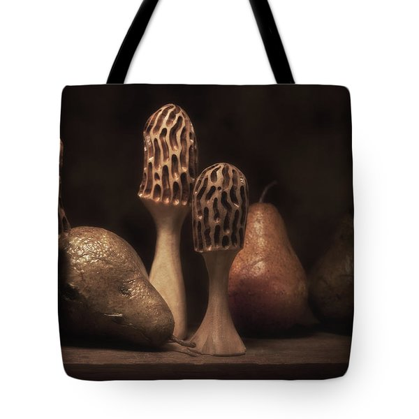 Still Life With Mushrooms And Pears II Tote Bag by Tom Mc Nemar