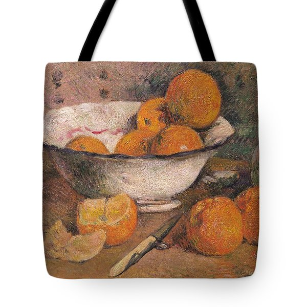Still Life With Oranges Tote Bag by Paul Gauguin