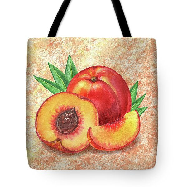 Still Life With Peach Tote Bag