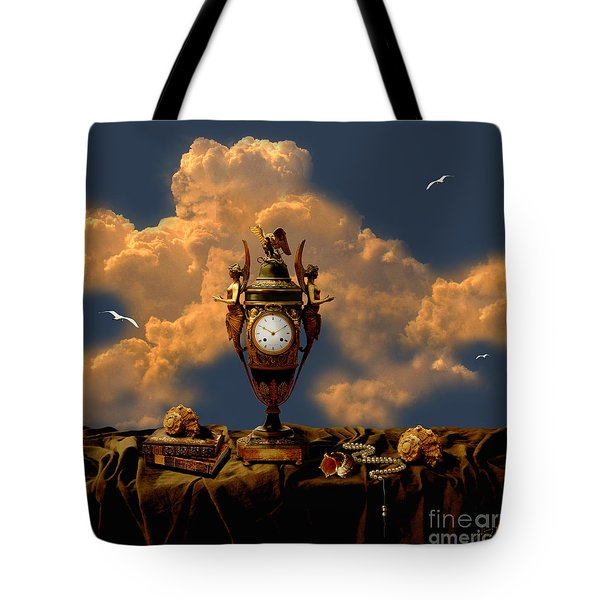 Tote Bag featuring the digital art Still Life With Pearls by Alexa Szlavics
