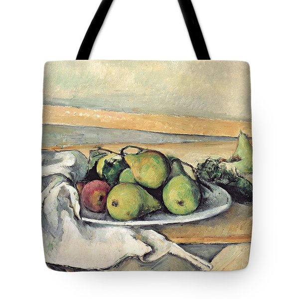 Still Life With Pears Tote Bag by Paul Cezanne
