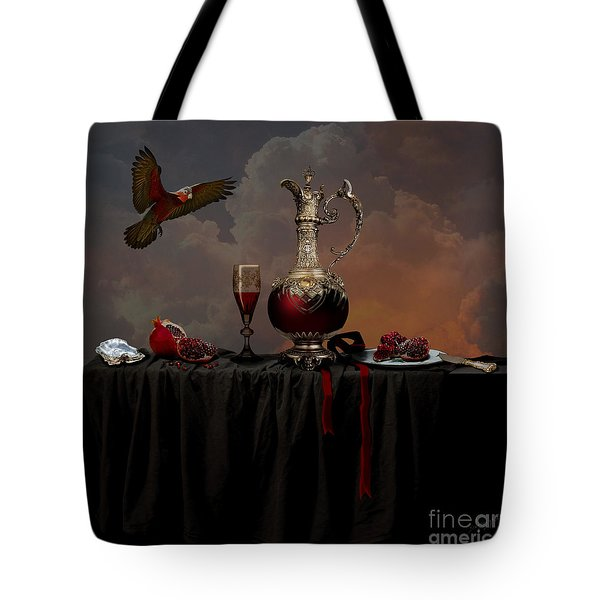 Tote Bag featuring the photograph Still Life With Pomegranate by Alexa Szlavics