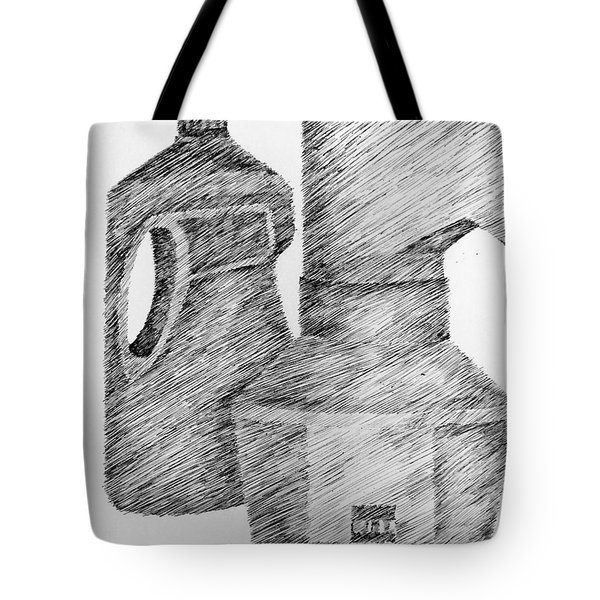 Still Life With Popcorn Maker And Laundry Soap Bottle Tote Bag