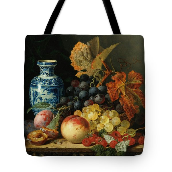 Still Life With Rasberries Tote Bag by Edward Ladell