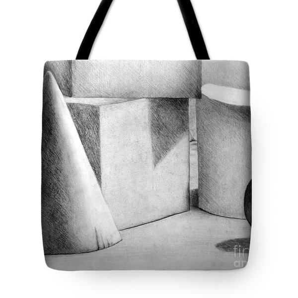 Still Life With Shapes Tote Bag by Nancy Mueller
