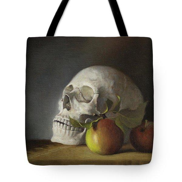 Still Life With Skull Tote Bag