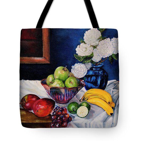 Still Life With Snowballs Tote Bag
