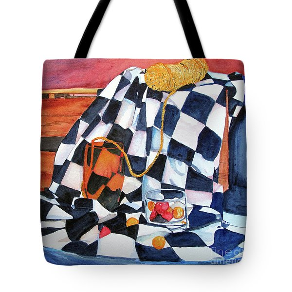 Still Life With Squares Tote Bag