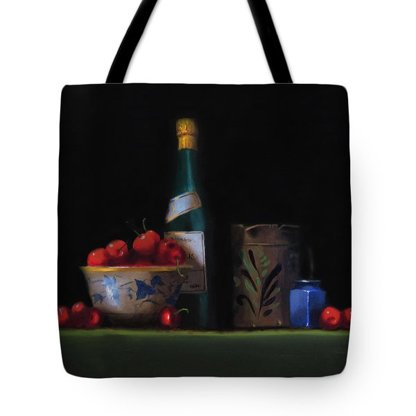 Tote Bag featuring the painting Still Life With The Alsace Jug by Barry Williamson