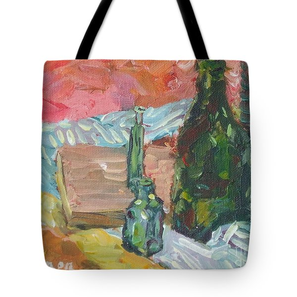 Still Life With Three Bottles Tote Bag
