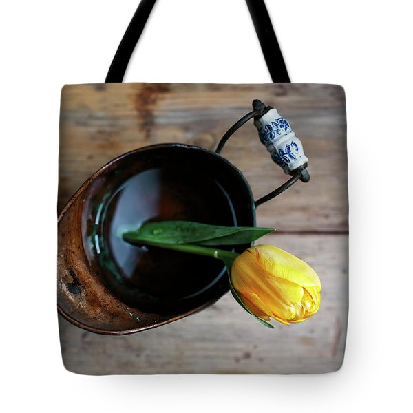 Still Life With Tulip Tote Bag