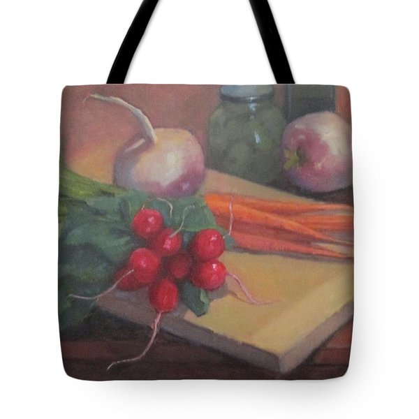 Tote Bag featuring the painting Still Life With Turnips by Jennifer Boswell