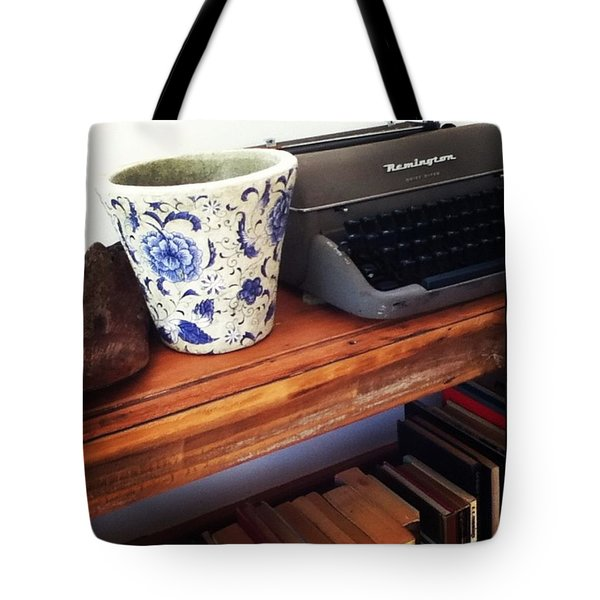 Still Life With Typewriter.  Tote Bag by Jacci Freimond Rudling