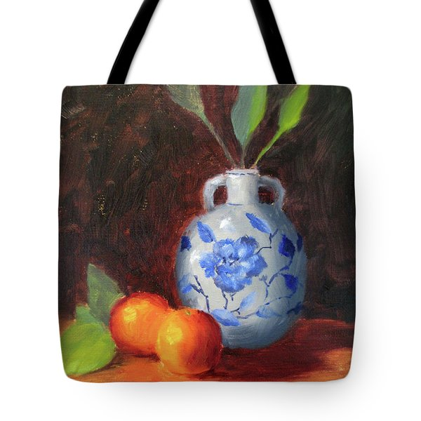Still Life With Vase And Fruit Tote Bag