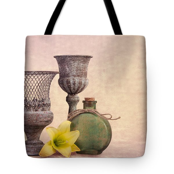 Still Life With Yellow Lily Tote Bag