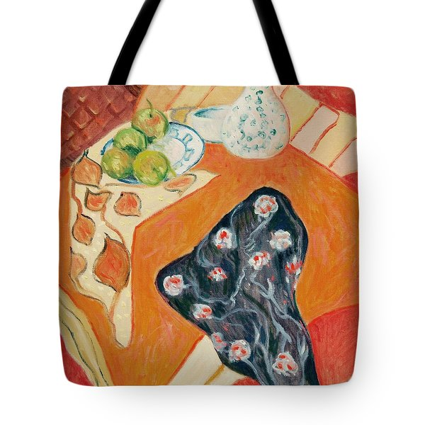 Still Live With Red Tote Bag by Pierre Van Dijk