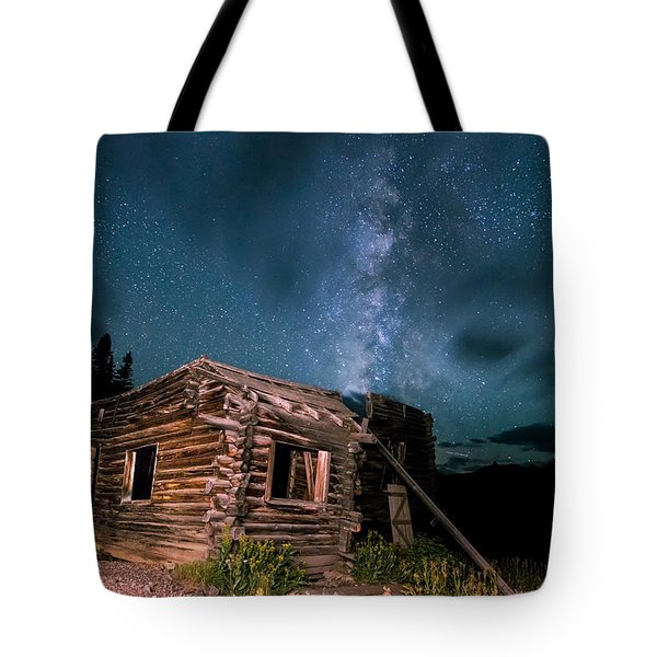 Still Night At Old Cabin Tote Bag