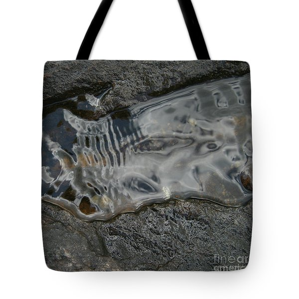 Tote Bag featuring the photograph Still Stream Skeleton Screams by Carol Lynn Coronios