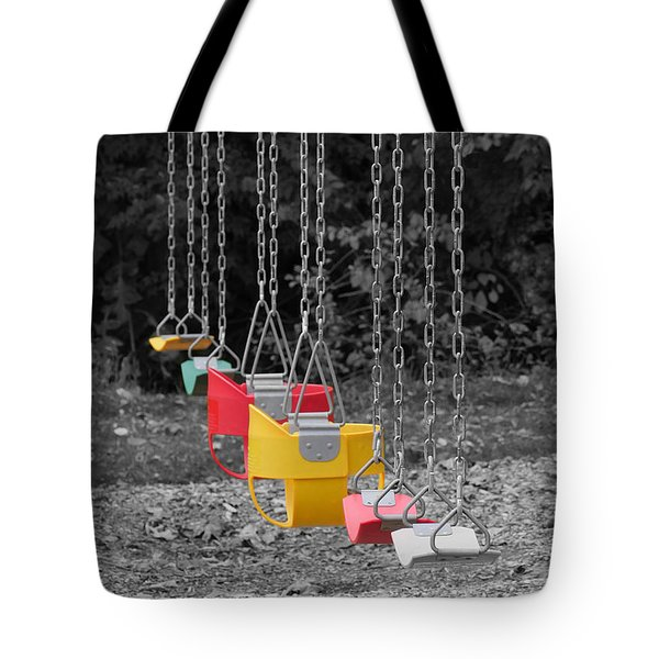 Still Swings Tote Bag by Richard Reeve