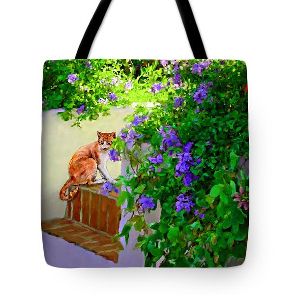 Tote Bag featuring the painting Still Waiting by David  Van Hulst