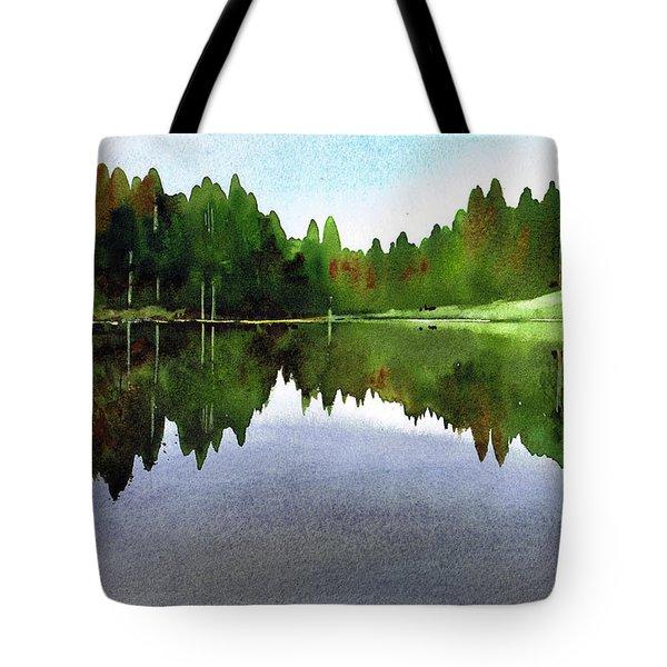 Still Water Tarn Hows Tote Bag