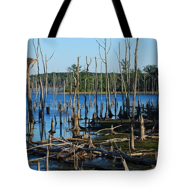 Still Wood - Manasquan Reservoir Tote Bag