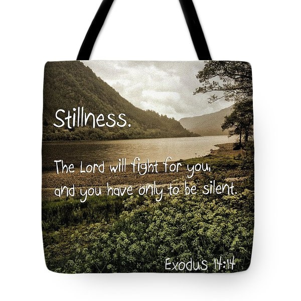 Tote Bag featuring the photograph Stillness by Beauty For God