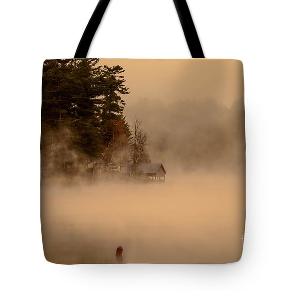 Stillness Of Autumn Tote Bag by Sherman Perry