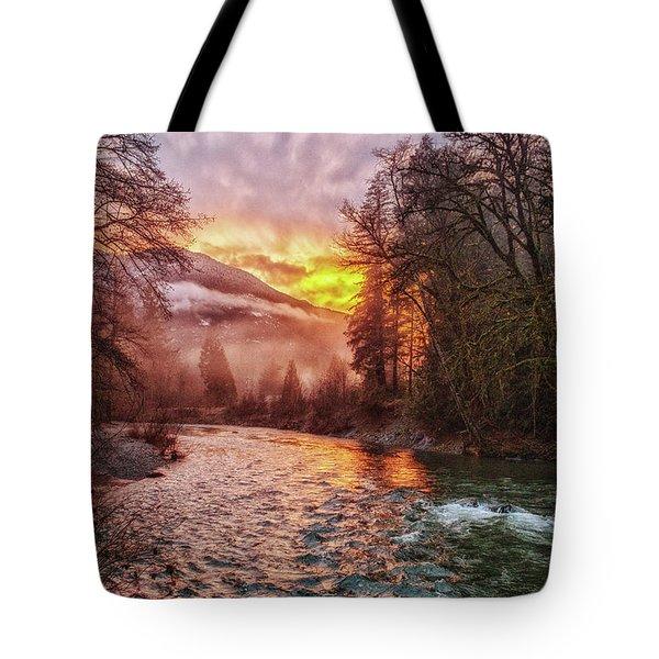 Stilly Sunset Tote Bag