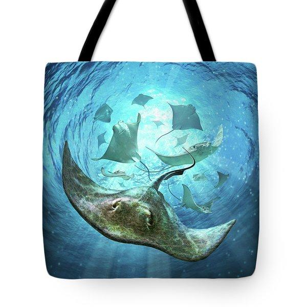 Sting Rays Tote Bag